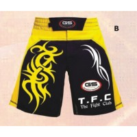 Yellow and Black MMA & Grappling Shorts MMA Shorts