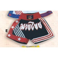 Black and Red Thai & Kick Boxing Shorts Boxing Products