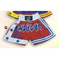 Red and White Thai & Kick Boxing Shorts Boxing Products