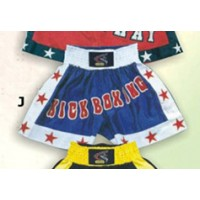 Blue and White Thai & Kick Boxing Shorts Boxing Products