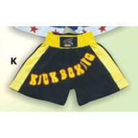 Black and Yellow Thai & Kick Boxing Shorts Boxing Products