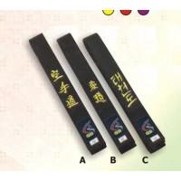 Black Karate Embroidered Belt Champion Belts